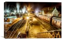 Bridgnorth Station at night, Canvas Print