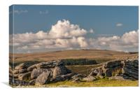 Looking north from Gutter Tor on Dartmoor, Canvas Print
