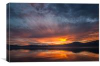 Sunset at Lake Tahoe, Canvas Print