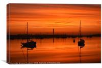 Stunning sunrise on the river medway, kent., Canvas Print