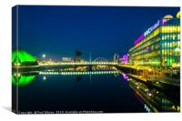 Glasgow Quayside At Night , Canvas Print