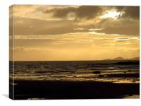 Ardrossan North Shore At Sunset, Canvas Print