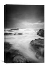 Sea spray and tidal surge, Canvas Print