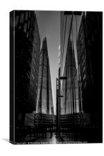 Shard London in black and white, Canvas Print