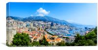 Monte Carlo panorama, Canvas Print