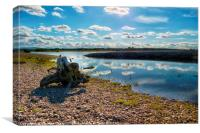 Cloud reflections at Spey Bay, Canvas Print