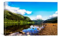 Loch Lubnaig, Loch Lomond & Trossachs National Par, Canvas Print