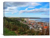 Cullen and its viaduct Moray, Scotland, Canvas Print