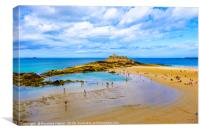 Fort National St Malo, Canvas Print