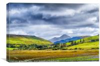 Isle of Skye landscape layers of colour, Canvas Print