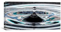 Turquoise blue water drop, Canvas Print