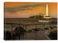 St Marys Lighthouse Whitley Bay, Canvas Print
