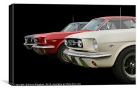 Mustangs All In A Row, Canvas Print