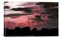 Pylon at sunset, Canvas Print