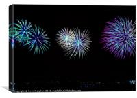 Fireworks At wallsend, Canvas Print