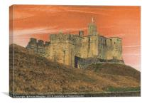 Walkworth Castle In Northumberland, Canvas Print
