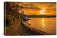 Sunset at Totaig, Canvas Print
