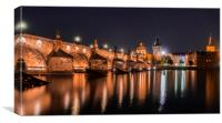 Charles bridge in Prague, Canvas Print