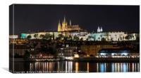 Panoramic view of the castle in Budapest, Canvas Print