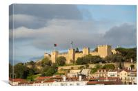 St. George castle in Lisbon, Canvas Print