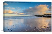 Reflections of Swanage Bay, Canvas Print