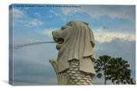 Merlion, Singapore, Canvas Print