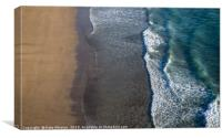 When The Sea Meets The Sand, Canvas Print
