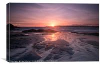 Harlyn Pink Sunrise, Canvas Print