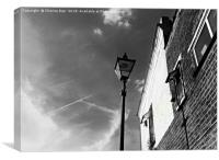 Black and white street light, Canvas Print