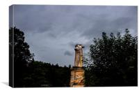 Statue of Giant in Athens Agora, Canvas Print