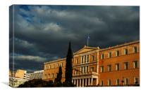 Greek Parliament Building in Athens, Canvas Print