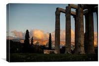 Temple of Olympian Zeus at Sunset, Canvas Print
