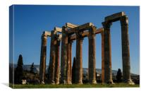Temple of Olympian Zeus in Winter Sun, Canvas Print
