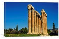 Temple of Olympian Zeus in Winter Sunshine, Canvas Print