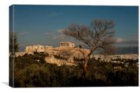 The Acropolis from Filopappou Hill, Canvas Print