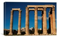 Temple of Zeus Close Up, Canvas Print