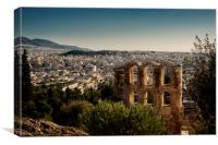 The Theatre of Herodes Atticus, Canvas Print