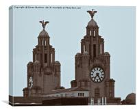 The Liver Birds of Liverpool, Canvas Print
