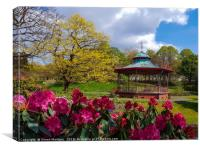 Bandstand Blooms, Canvas Print