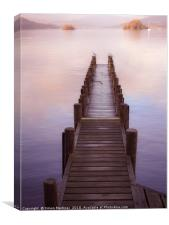 A Pier of Tranquil View, Canvas Print