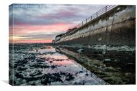 Sunset reflections Ramsgate Western Undercliff, Canvas Print