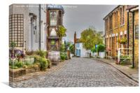 Upnor Village Cobbled Street, Canvas Print