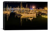 Reflections in Ramsgate Marina, Canvas Print
