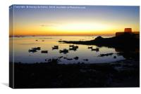 Sunset over Rocquaine Bay, Guernsey., Canvas Print