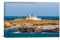 Lighthouse Shore Station Guernsey, Canvas Print