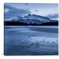 Two Jake Lake in winter, Canvas Print