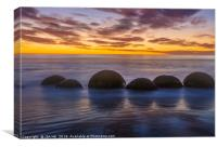 Moeraki Rocks, Canvas Print