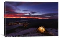 camping on Roys Peak, Canvas Print