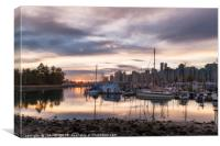 Vancouver morning, Canvas Print