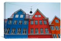 The red and blue house in Copenhagen, Canvas Print